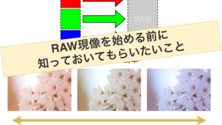RAW現像を始める時に知っておきたい3つのこと