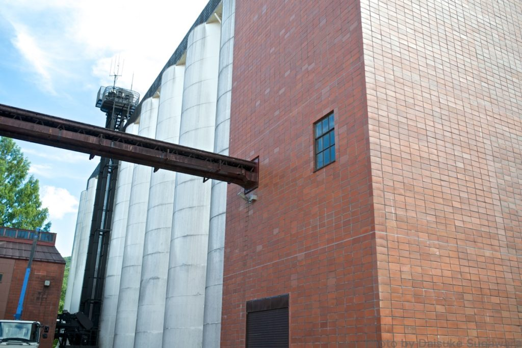 ニッカウイスキー仙台工場のサイロ