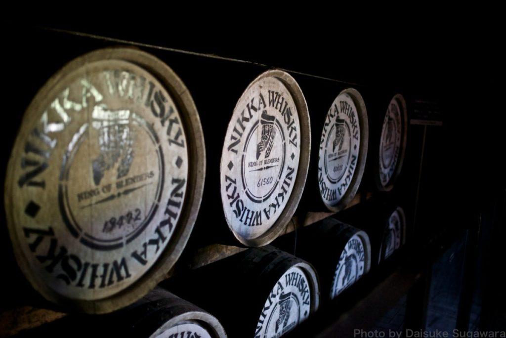 ニッカウイスキー仙台工場の樽