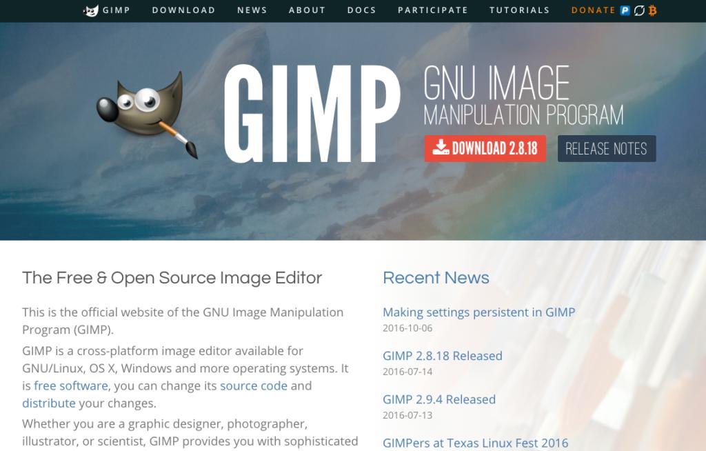 GIMPサイトキャプチャ