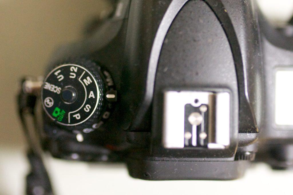 Avモードに設定したカメラ