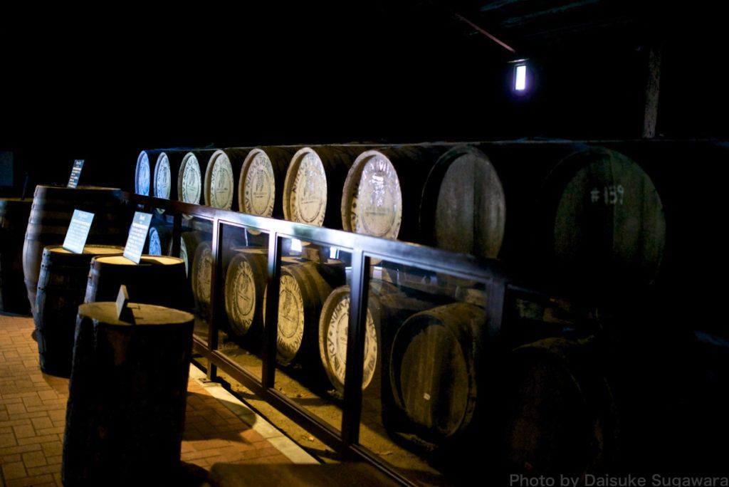 ニッカウイスキー仙台工場の貯蔵庫