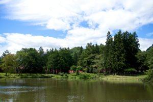 ニッカウイスキー仙台工場内の池